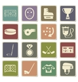 Hockey simply icons vector image vector image