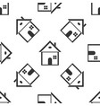 house icon seamless pattern on white background vector image