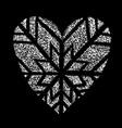 i like winter snowing grunge logo heart shape vector image vector image