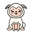 isolated cute standing sheep vector image vector image