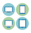 laptop smartphone pc and tablet vector image