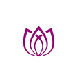 lotus flower line abstract yoga logo vector image vector image