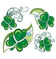 Lucky clovers background for Happy St Patricks Day vector image vector image