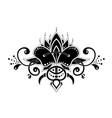 mehndi organic motif pattern for henna drawing vector image