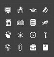 modern flat social icons set on dark background vector image