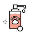 pet soap flatoutline vector image