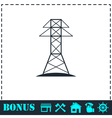 Power line icon flat vector image vector image
