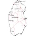 Qatar Black White Map
