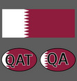 qatar flag and sticker on the car with vector image vector image