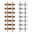 railroad sleepers vector image vector image