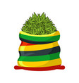 rasta sack of cannabis large bag of marijuana for vector image vector image