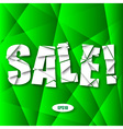 Sale Cut Paper Poster on green background vector image vector image