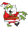 Santa Zombie Cartoon Character vector image