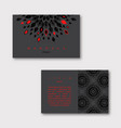 set of ornamental business cards with mandala vector image vector image