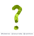 spring green bright leaves question sign vector image vector image