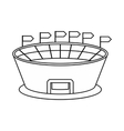 Stadium icon in outline style vector image vector image