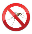 stop mosquito ban symbol no mosquitoes insect sign vector image