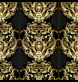 striped baroque seamless pattern black vector image vector image