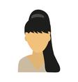 template avatars blonde girl vector image