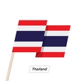 Thailand Ribbon Waving Flag Isolated on White vector image