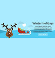 winter holidays banner horizontal concept vector image
