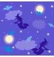 Witches and bats Halloween background vector image vector image