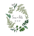 Wreath with herbs and leaves isolated vector image vector image