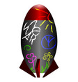 isolated rocket icon vector image