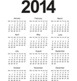 Simple 2014 Calendar vector image