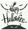 Happy Halloween hand drawn typography vector image