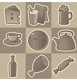 Monochrome food icons vector image