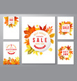 6 bright autumn posters vector image