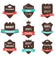 Set of vintage badges Sale premium quality best vector image