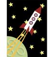 a flying rocket vector image