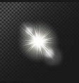 A white glowing light vector image