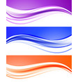 abstract elegant light waves collection vector image vector image