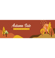 autumn landscapes banner and wallpaper for social vector image vector image