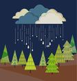 autumn rain from cloud vector image