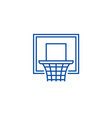 basketball hoop line icon concept basketball hoop vector image vector image