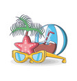 beach vacation summer holiday vector image