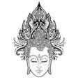 buddha face over ornate mandala round pattern