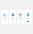 business office work line technology ux ui vector image