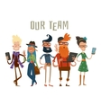 Business team people group portrait website vector image vector image