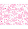 butterfly seamless pattern flying insects with vector image vector image