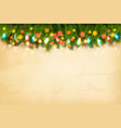 christmas holiday decoration with branches vector image