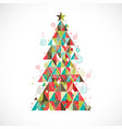 christmas tree with geometric graphic decorate vector image vector image