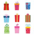 collection gifts vector image vector image