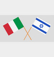 crossed flags israel and japan vector image vector image