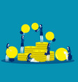 crowdfunding financing creative project vector image