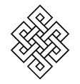 cultural symbol of buddhism endless knot vector image vector image